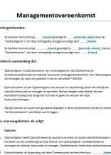 Managementovereenkomst Holding voorbeeld