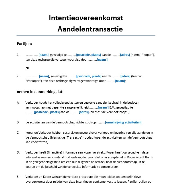 intentieverklaring bindend Intentieverklaring Bindend | hetmakershuis