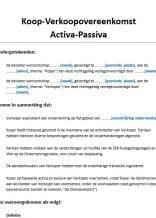 Overname Activa Passiva