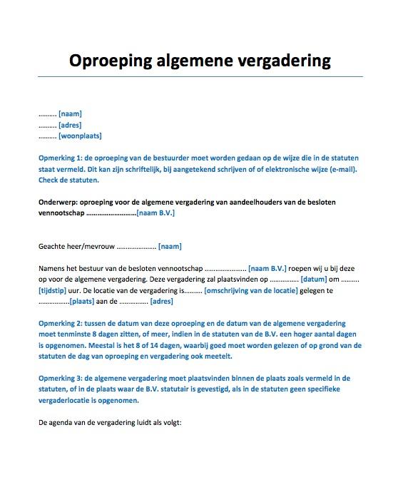 voorbeeld ontslagbrief bestuurder Ontslag bestuurder Voorbeeld   Voorbeeldcontract.nl voorbeeld ontslagbrief bestuurder