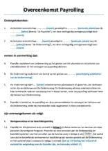 Overeenkomst Payrolling WAB