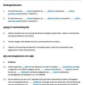 Huurkoop woning voorbeeld direct downloaden for Huurkoop woning