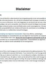 Disclaimer e-mailbericht