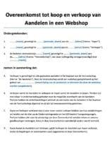Webshop Overname Aandelen