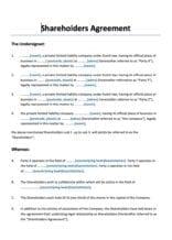 Aandeelhoudersovereenkomst gelijkwaardige verhoudingen Engelstalig