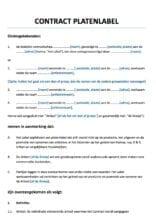 Platencontract Artiestenovereenkomst