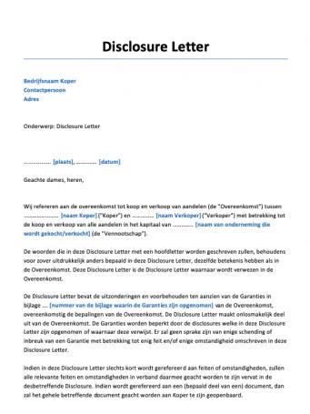 Disclosure Letter